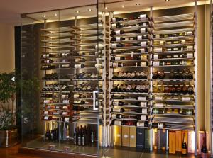 Lake Forest IL 60045 Contemporary Wine Cellar Racking (040)