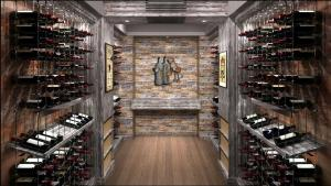 Lake Forest IL 60045 Contemporary Wine Cellar Racking (041)