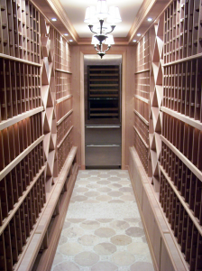 Custom-Cellar-with-White-Wine-Cooler