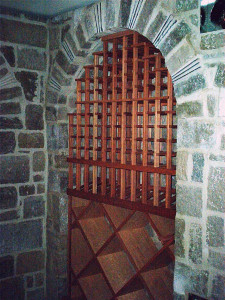 Custom Racking-in-stone-arch