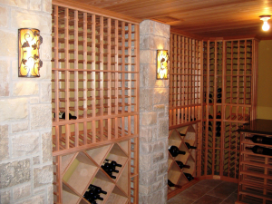 Custom Racking-with-Stone-and-Tounge-and-Groove-Ceiling-300x225