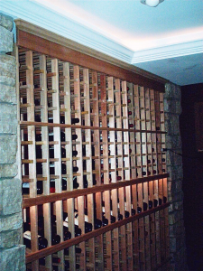 Custom Racking-with-Stone-and-Tray-Ceiling