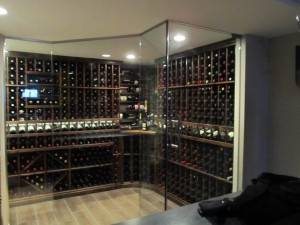 Barrington IL 60010 Glass Enclosed Wine Cellar